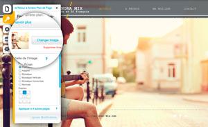 Changer Arrière-plan Wix - Etape 2