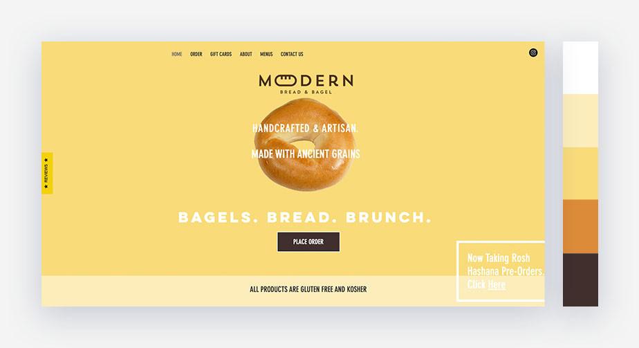 50 paletas de cores para o seu site: contraste despojado