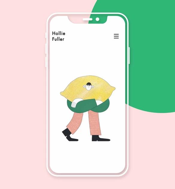 Sito web mobile di Hollie Fuller