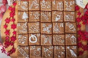 календарь из печенья