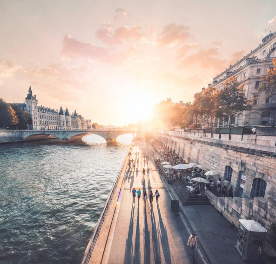 Foto de puente sobre el río Sena