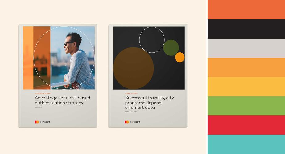 Paleta de cores do Mastercard