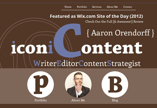 Página web de Iconic Content