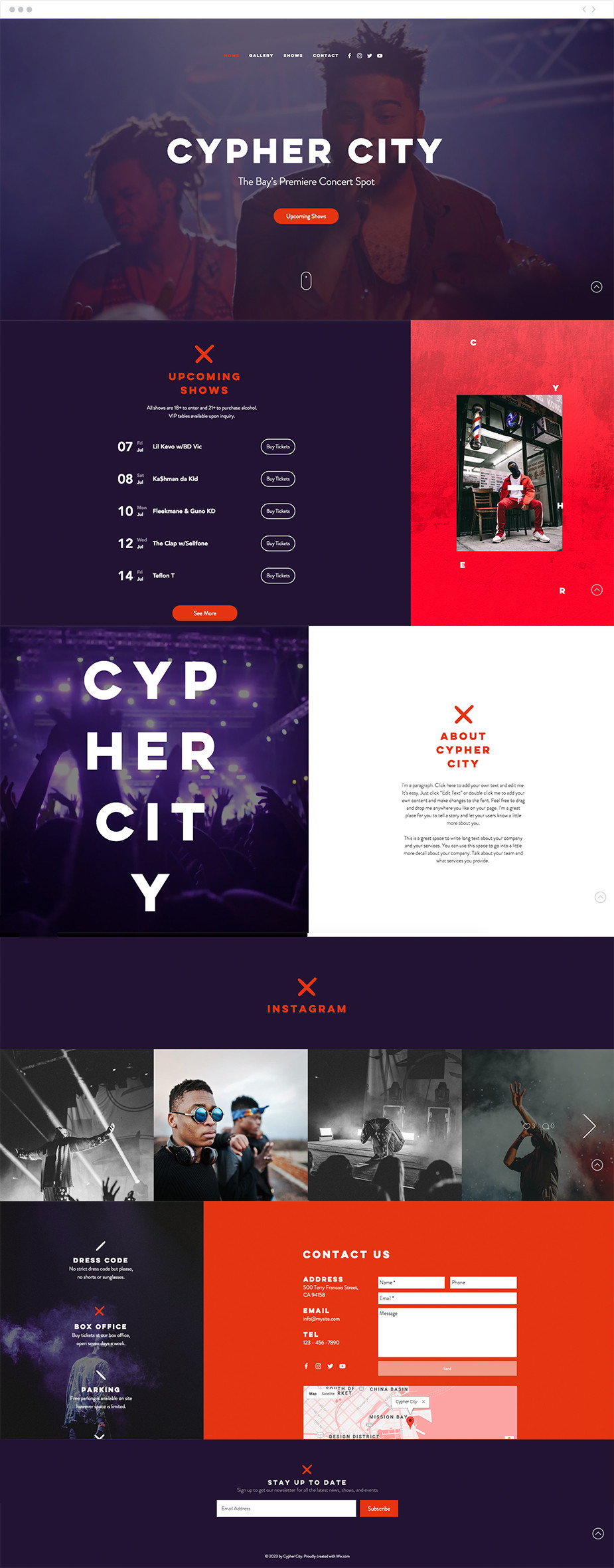 Concert Venue Website Template