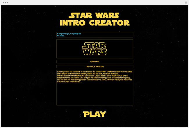Star Wars Créateur de Générateur