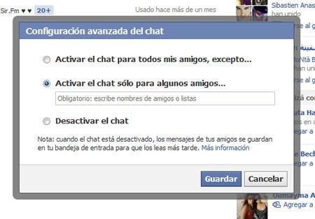 Abre tu chat sólo para algunos amigos