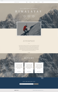 Wix movie website template