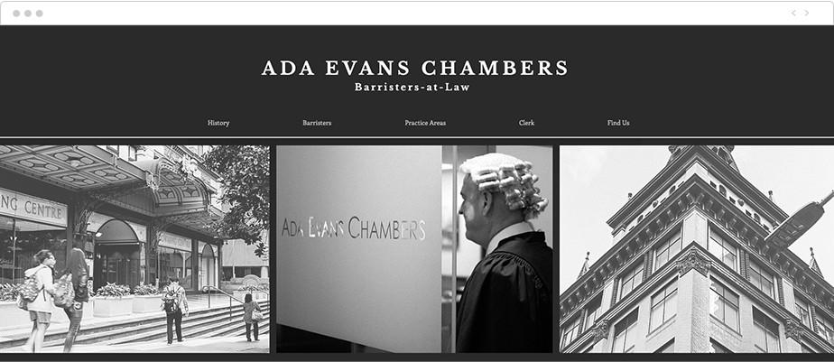 Best law firm websites Ada Evans Chambers