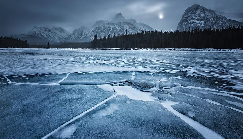 Fotografía que muestra un paisaje de invierno