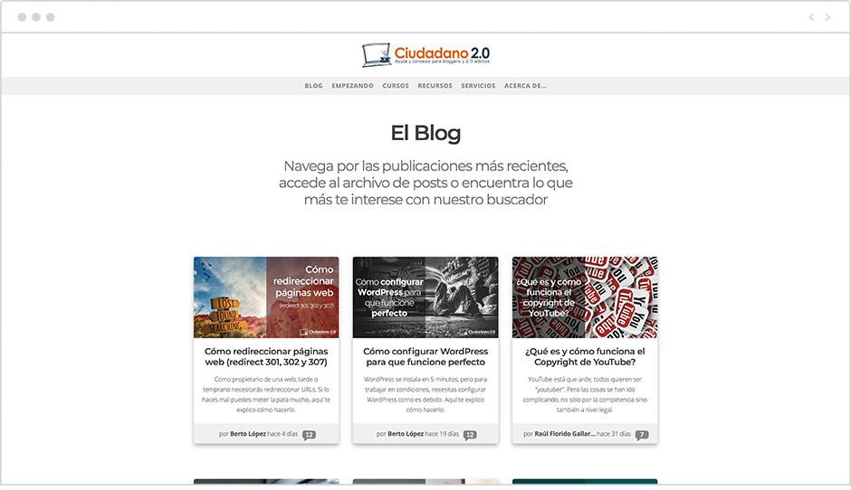 Página de inicio del Blog Ciudadano2.0