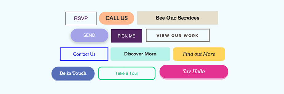 Type of submission buttons in online forms