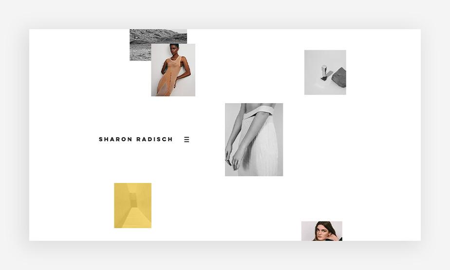 불규칙한 격자 균형으로 조화를 이룬 샤론 라디흐의 아름다운 웹사이트 이미지