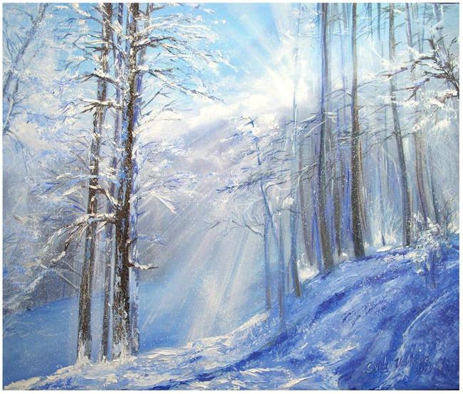 «Зимнее утро в лесу», Светалана Волкова