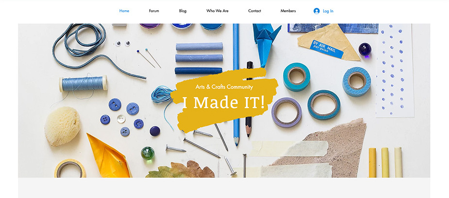 Arts and crafts blog template
