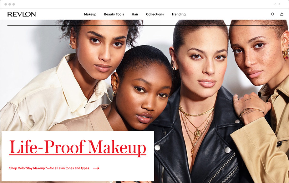 Best homepage design Revlon