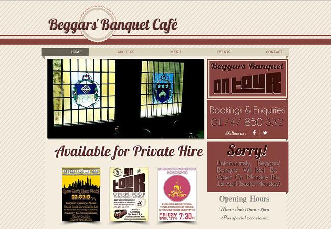 Página web de Beggar's Banquet Cafe