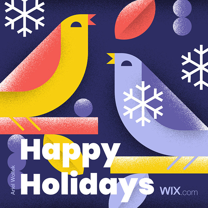 Free online holiday greeting card from Wix