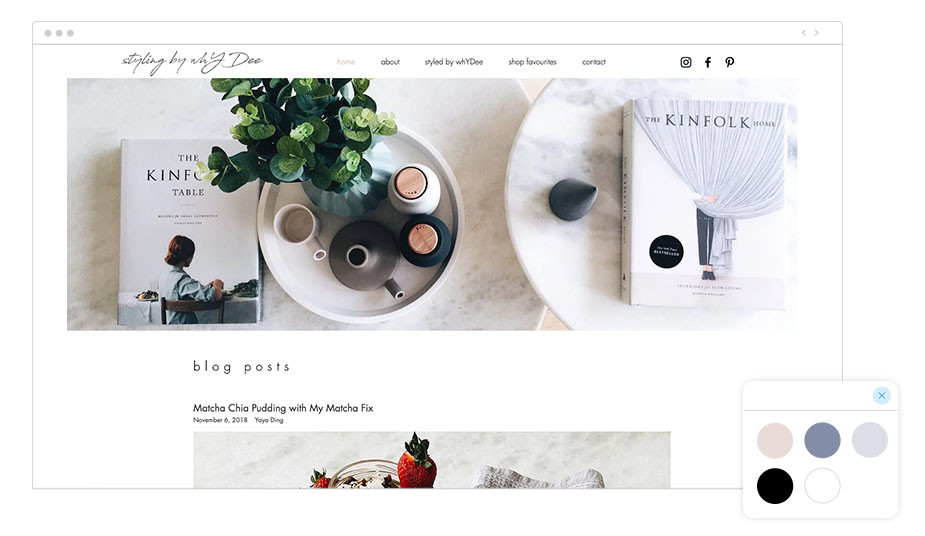Blog hecho con Wix