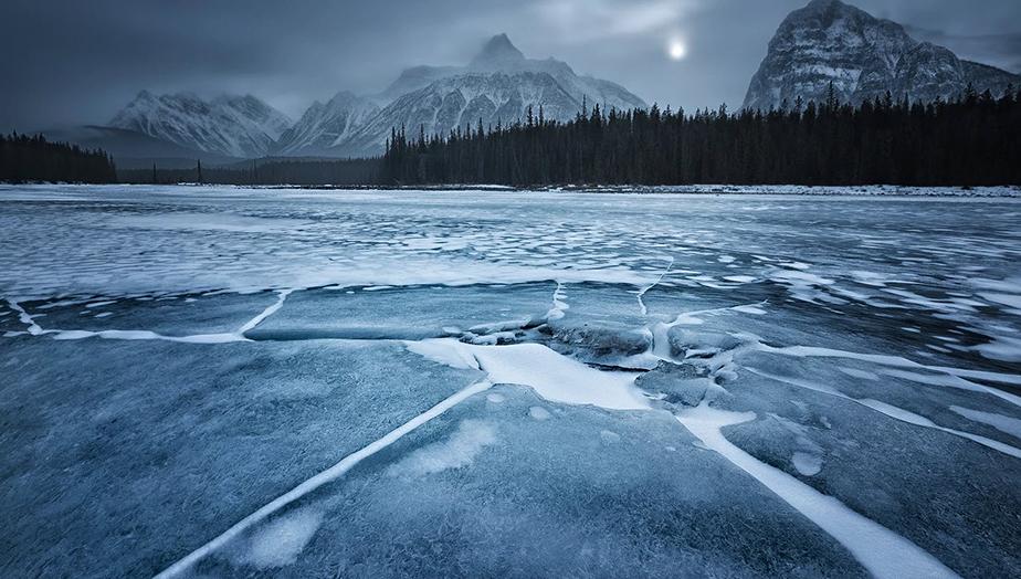 Imagen de paisaje congelado
