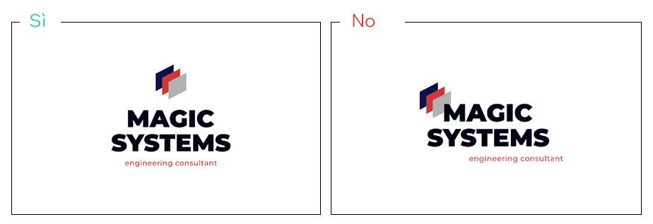 Logo di uno studio di consulenza con elementi allineati e non