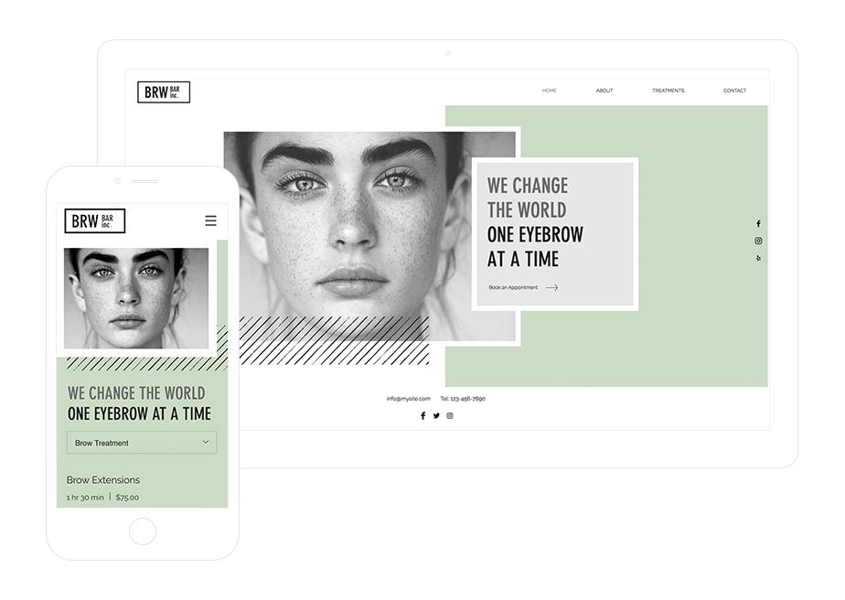 Strona salonu kosmetycznego – szablon