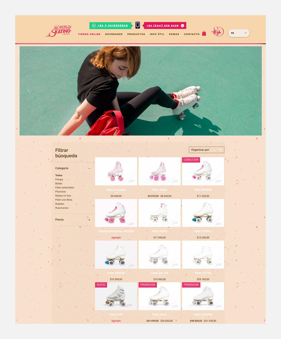 World Skating como ejemplo de una página web exitosa