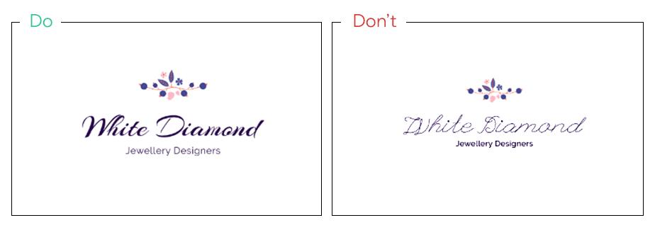 Logo von White Diamond als Idee für kreative Schriftarten