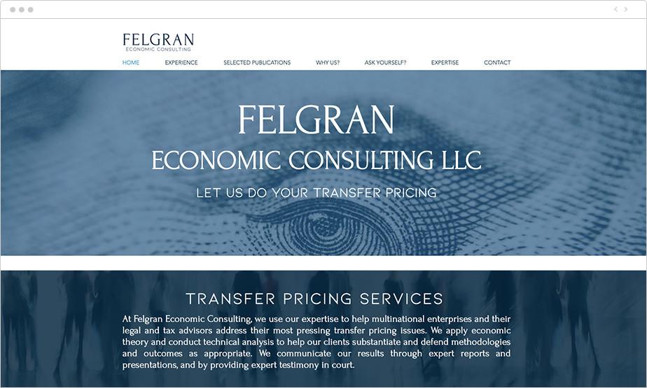 Best law firm websites Felgran Economic Consulting