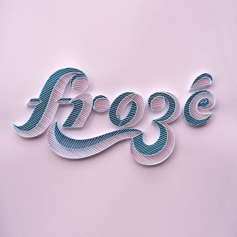 Froze hand lettering by Alia Bright