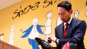 Shoe Shine WORKS 代表の菊池 政寛さん