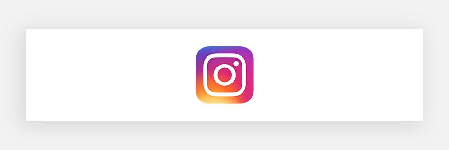 Примеры известных логотипов: Instagram