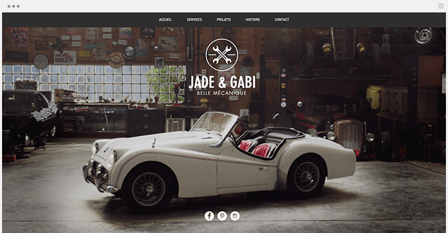 Template Jade & Gabi Wix garage
