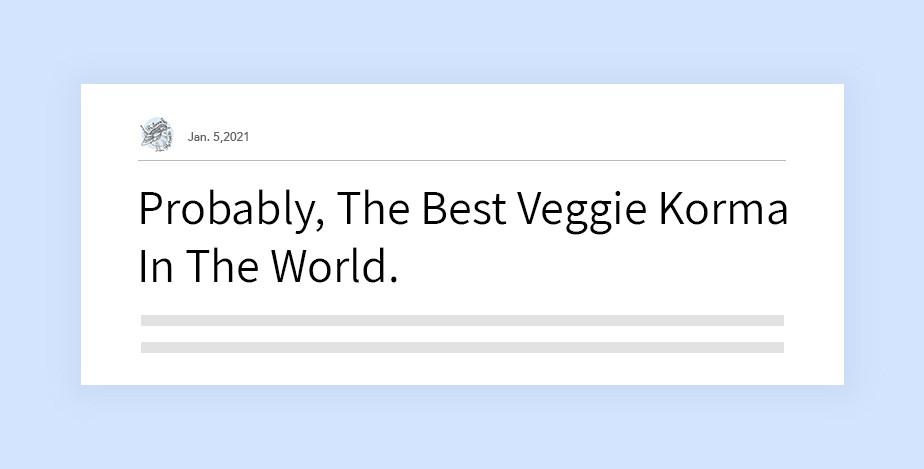 리부딘 블로그의 헤드라인 '세상에서 아마도 제일 맛있는 채식 커리'