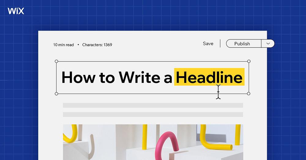 헤드라인 작성하는 법에 대한 기사 제목이 선명히 보이는 사이트 이미지
