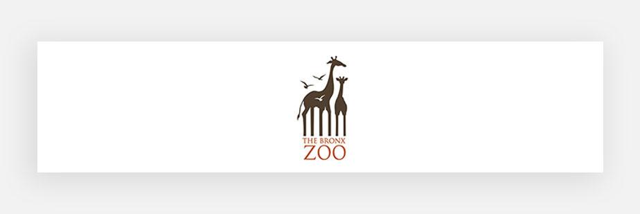 Примеры известных логотипов: зоопарк Бронкса