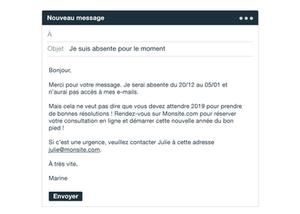 Message d'absence business