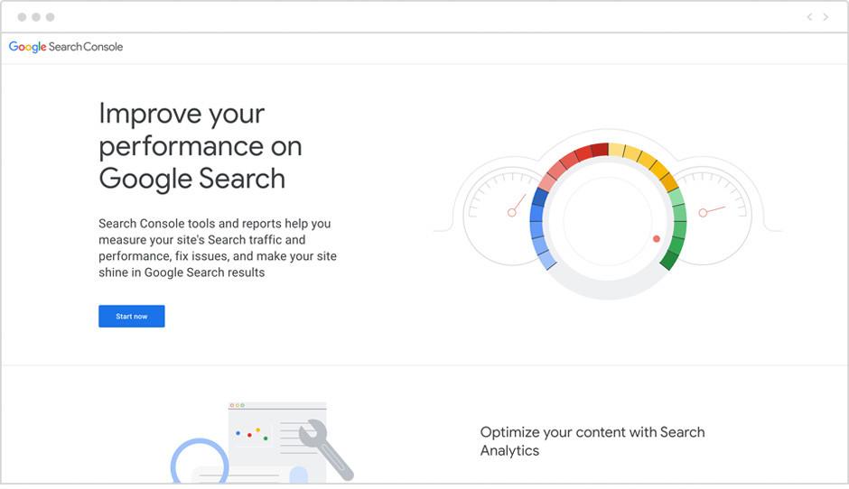 Captura de pantalla de Google Search Console