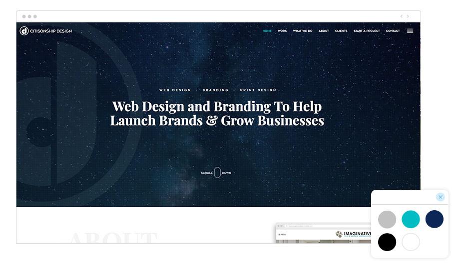 Página web wix de estudio de branding