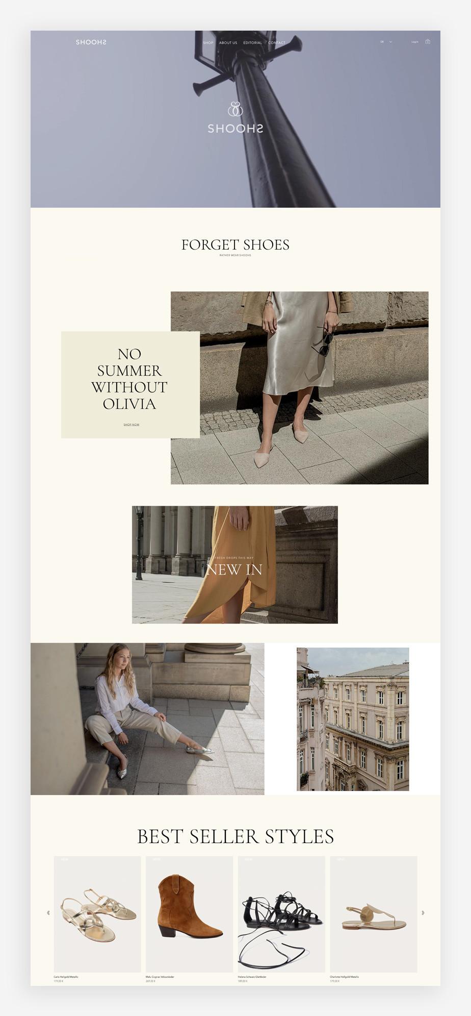 Screenshoot der Website von SHOOHS