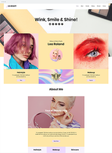 Bir makyaj markasının web site tasarımı