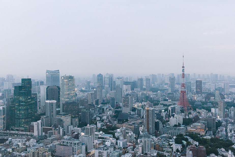 Foto aérea de Tokio tomada por Sharon Radisch
