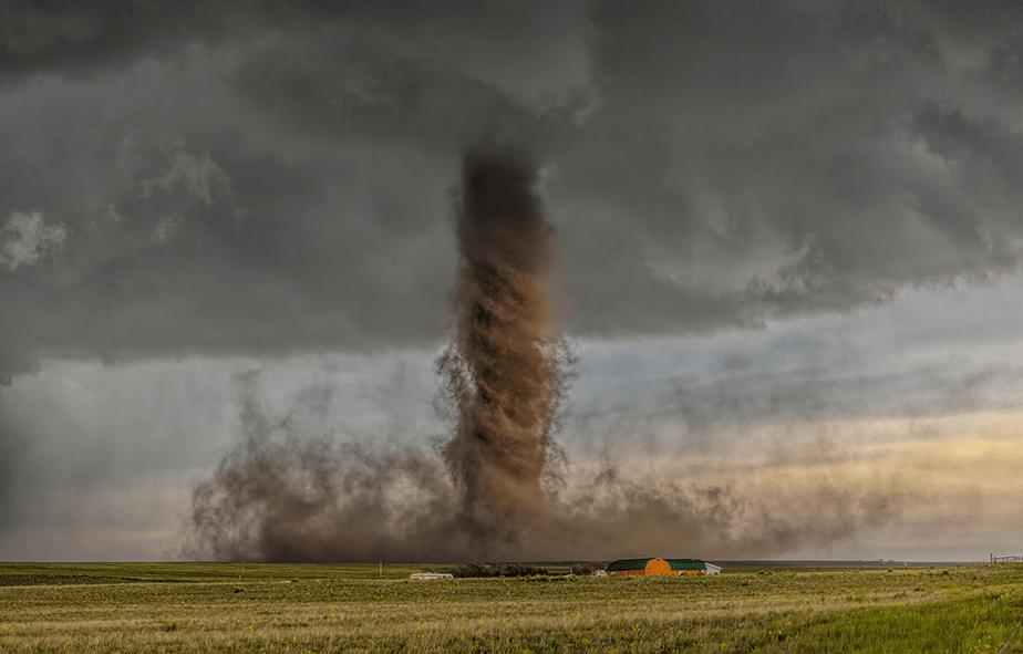tornado reaching farm
