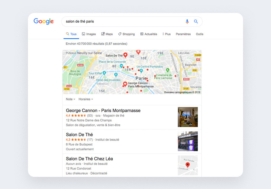 SEO local exemple