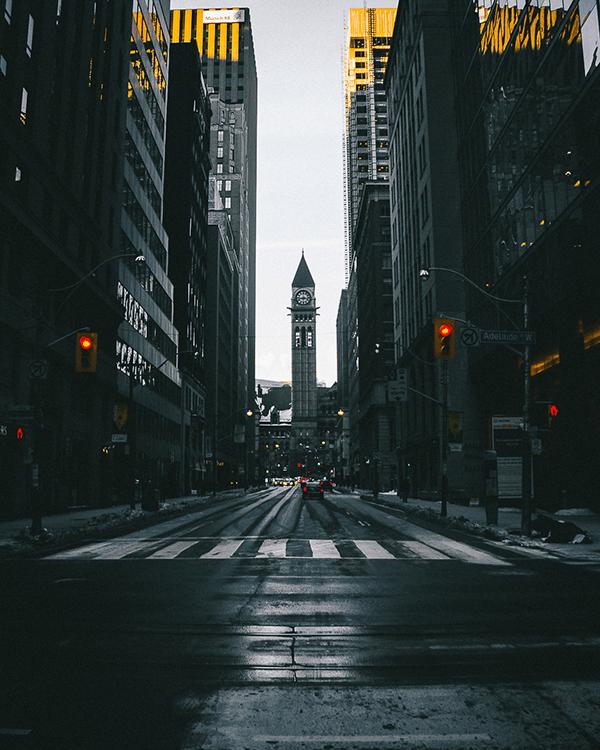 urban streets after rain