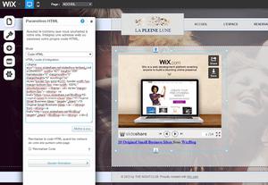 Présentation en ligne intégrée sur un site WIx