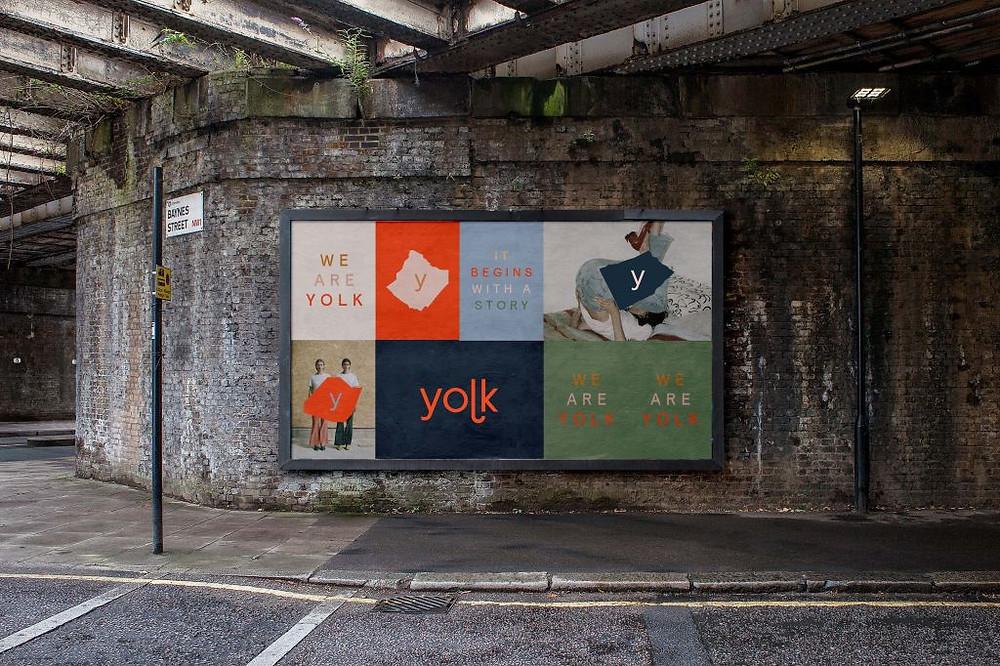 Caterina Bianchini identity and logo design for Yolk London
