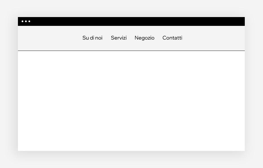 web design menu navigazione classico