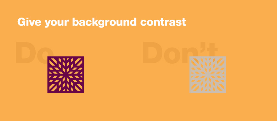 Utilizzare uno sfondo dal colore contrastante su Wix Logo Maker
