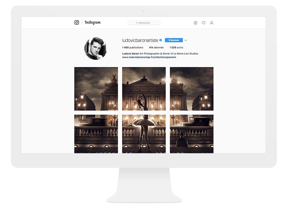 Composition d'images sur Instagram