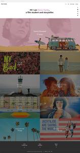 Wix templates: Film student portfolio